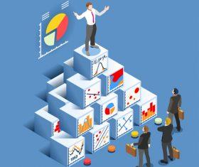 Business big data analytics vector