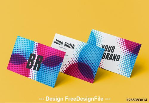 Business card with pop art elements vector