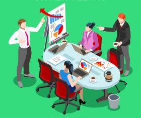 Business marketing planning meeting vector