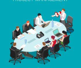 Business project management vector