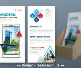 Business promotion brochure vector