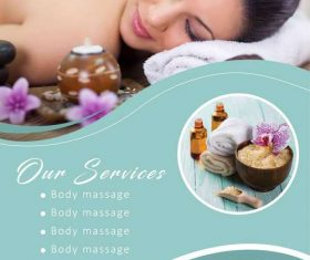 Business template beauty Spa flyer vector
