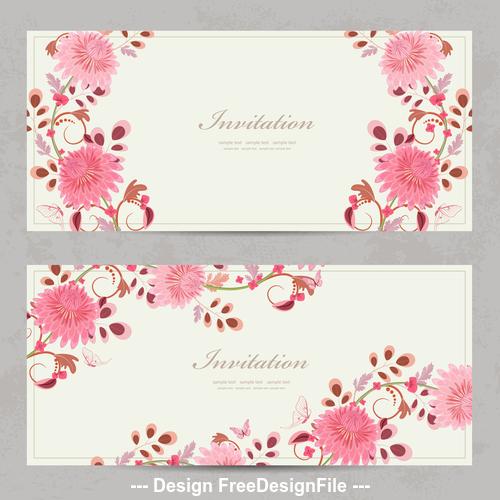 Card chrysanthemum vector