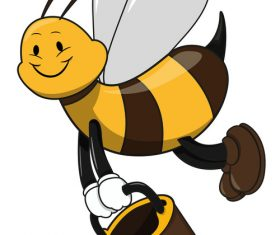 Cartoon funny bee vector