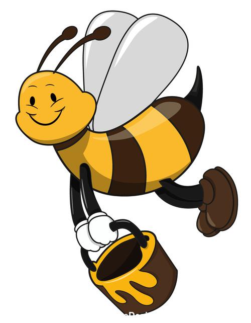 Cartoon funny bee vector