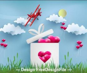 Cartoon illustration happy valentines day vector
