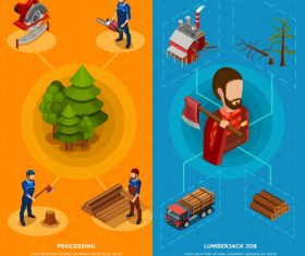Cartoon illustration lumberjackand vector