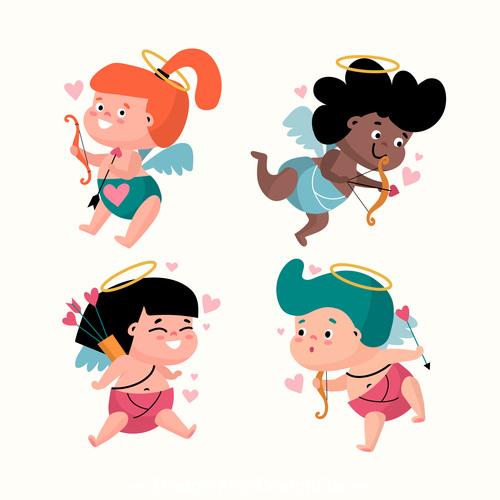 Cartoon love god vector