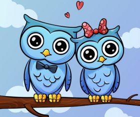 Cartoon owl illustration vector