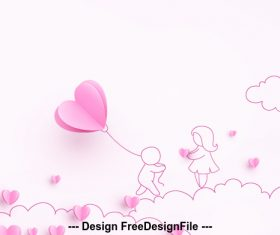Cartoon valentine card vector