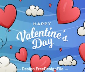 Cartoon valentines day poster vector