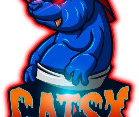 Catsx mascot esport logo vector