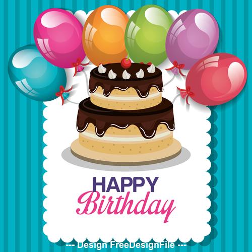 Celebrate happy birthday vector