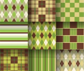 Checkered and rhombus pattern seamless vector
