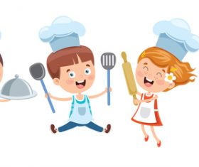 Child chef vector