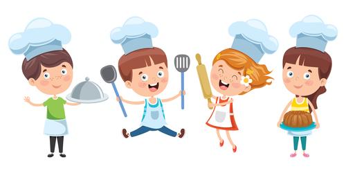 Child chef vector