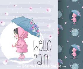 Children background cartoon decorative pattern vector