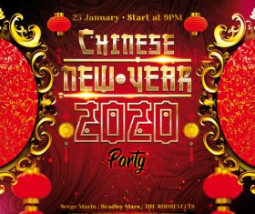 Chinese New Year 2020 Flyer Psd Template