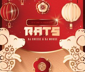 Chinese New Year Flyer and Poster PSD Template