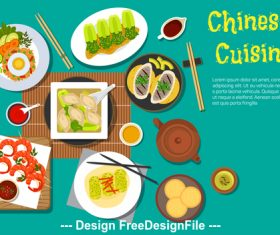 Chinese cuisine vector