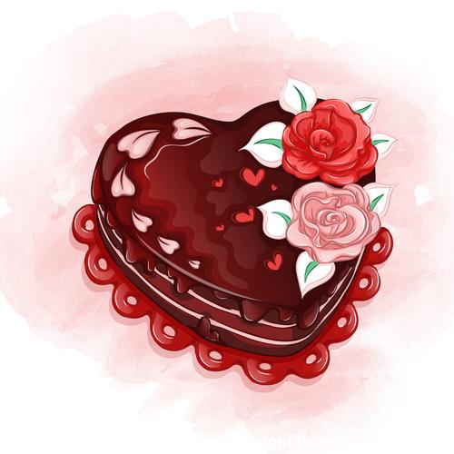 Chocolate cake cartoon illustration vector