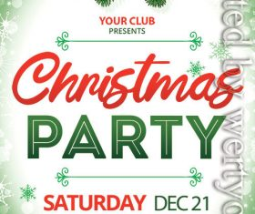 Christmas Party Event Design Flyer PSD Template