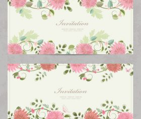 Chrysanthemum background card vector