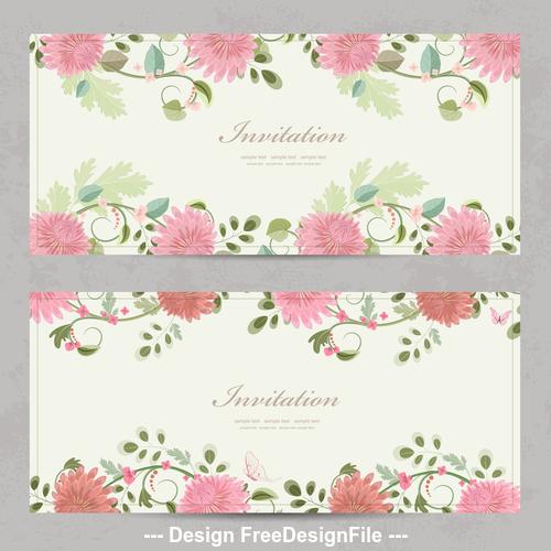 Chrysanthemum background card vector