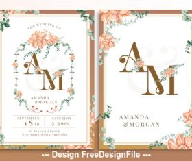 Cinnamon Stick Flower PSD Invitation Card