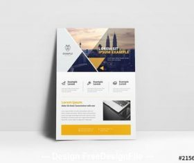 Cityscape cover business flyer vector