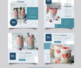 Cold drink promotion templates vector