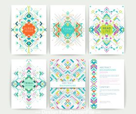Color abstract pattern flyer vector