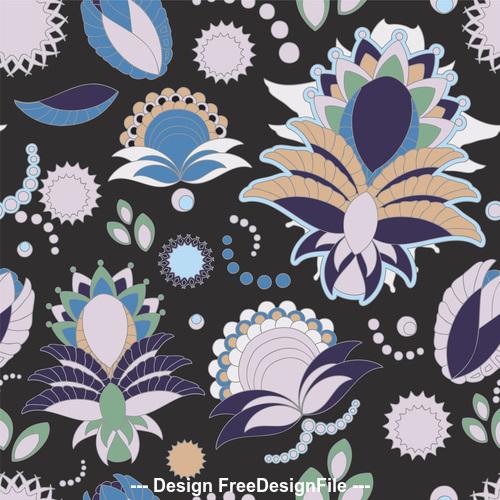 Color flower pattern vector