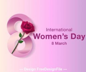Color gradient womens day greeting card vector