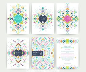 Color pattern flyer vector