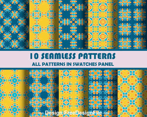 Colored petals seamless pattern vector