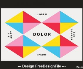 Colorful and geometric business card layouts vector