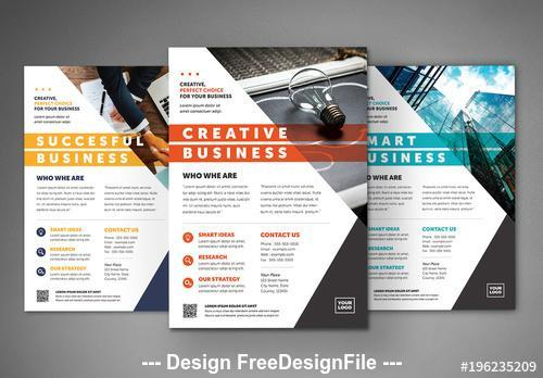 Colorful business flyer layout vector