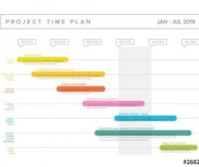 Colorful gantt chart vector