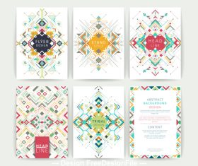 Colorful geometric line pattern flyer vector