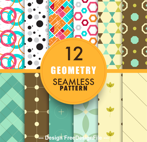 Colorful rich geometric seamless pattern background vector