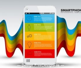 Colorful smartphone infographic vector