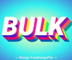 Colorful text effect with blue background vector