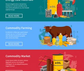 Commodity farming cartoon illustration vector