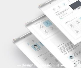 Company portfolio website layout vector