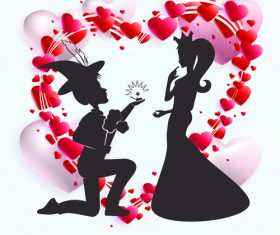 Confession valentines day silhouette vector