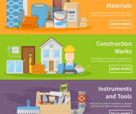 Construction materials vector