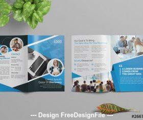 Corporate bifold brochure vector