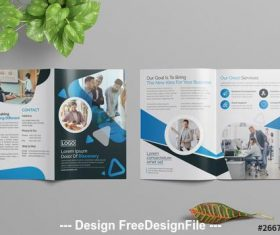 Corporate external publicity brochure vector