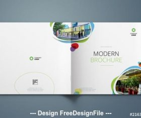 Cover layout with blue and green elements vector